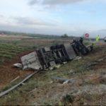Muere un camionero portugués de 45 años, en un fatal accidente en en la autovía de Extremadura (A-5)