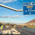 Tres camiones la lían en carreteras de las Palmas