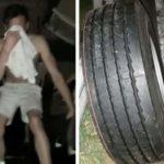 Varios camioneros, agreden a dos colegas, acusados de robarles ruedas de repuesto de los camiones