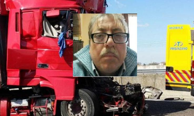 1553702072566.jpg schianto in autostrada muore camionista padre di tre figli