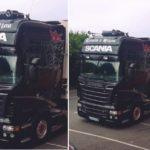 Camión robado en Madrid, Scania matrícula 4445-HJW – Frigo R2575-BCK