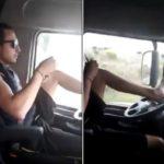 Dos chóferes manejando el camión con los pies en sólo una semana ¿Qué está ocurriendo?