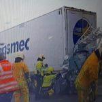Un conductor de furgoneta ha fallecido aplastado entre dos camiones, tras una colisión en la E25 / E40 en Ans