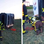 Fallece un camionero de 36 años al volcar y quedar atrapado bajo la cabina en la N18 F