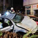 Muere el conductor accidentado que iba por Valencia a 186 km/h