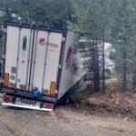 Camiones de Girteka atascados en pistas forestales por culpa del GPS