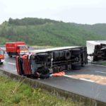 Dos años de cárcel por volcar un tren de carretera viajando a más de 110 km/h con tasa de 2,14 de alcohol