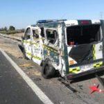 Un Camionero y dos Guardias Civiles heridos, al caer por un talud, y ser arrollados por otro camión en la A-7
