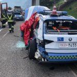 Dos policías heridos tras ser atropellados por un camión polaco cuando iban a detener a otro que zigzagueaba