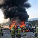 Muere un camionero que había sufrido quemaduras en el 90% del cuerpo en la AP-7