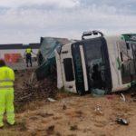 Tres heridos, uno de ellos grave, en un choque múltiple en Fraga