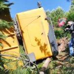 Fallece un joven camionero de 32 años, tras despeñarse por un terraplén en Mos