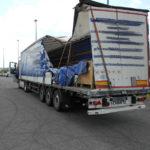 Detenido y multado el chófer de un camión accidentado en España, que viajaba peligrosamente a Ucrania