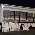 Detenidos dos ladrones de cargas de camiones, que habían rajado más de 20 lonas en la A73