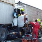 Fallece un camionero en una colisión por alcance entre dos camiones en la N232 a la altura de Pedrola