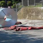 Ley de la Estiba: un camión pierde una Bobina de 17,5 tn de acero al desatarse del sistema de anclaje
