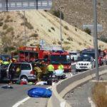 Un muerto y cuatro heridos, entre ellos un bebé, en un accidente múltiple en la AP-7 en Alicante