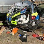Fallece un camionero de 36 años aplastado por el coche de policía que había arrollado un camión en la A7 Alemania