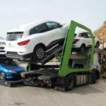 El giro imposible de un camión corta la carretera entre Olías y Totalán