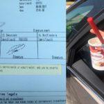 Denuncian a una conductora por comer un yogurt helado al volante