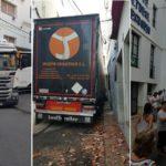 Un tráiler de Soria se empotra en Sant Pol de Mar, arrasando con todo, dando positivo en drogas su conductor