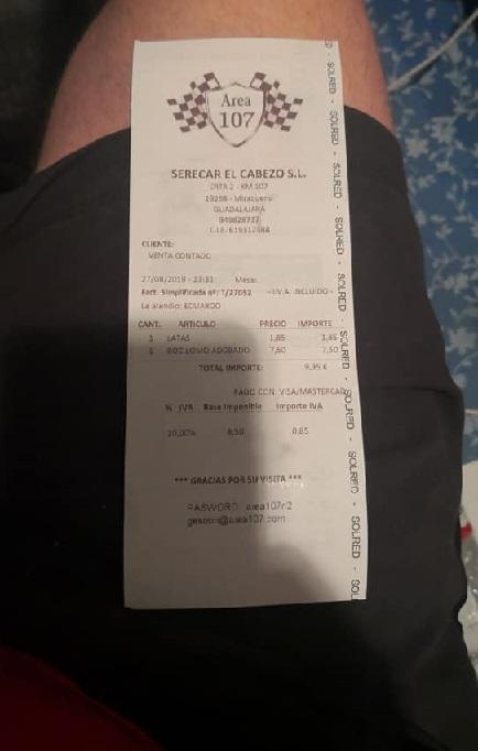 Cobran 9,35 euros por una lata cocacola y un bocadillo de lomo a un camionero en el Área 107 de la A2