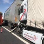 Un camionero herido tras la colisión por alcance de dos camiones en la A 4 cerca de Manzanares