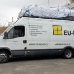 Explotan los neumáticos de una furgoneta que viajaba a España con 5 toneladas de sobrecarga en la A9 Francia