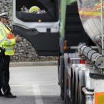 Multados 80 camioneros por ignorar la prohibición de adelantamiento en A8 en Gruibingen