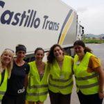 Castillo Trans transporta gratis 5t de alimentos para perros afectados por el temporal en Levante