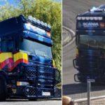 El impresionante camión decorado de la Policía que ha dejado boquiabiertos a los asistentes al Jarama