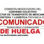 """""""HUELGA"""" CCOO Y UGT convocan huelga sector transporte Barcelona y Girona: """"Hay que preparar las barbaridades patronales""""."""