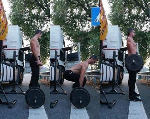 Iván, el camionero que cambió la obesidad por abdominales tableta