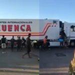 Camioneros acosados por menas marroquíes: Un atropello, te pueden caer de 10 a 15 años de cárcel