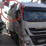 Aparatoso accidente de un camión español contra una casa, al evitar un tractor en Wohra – Alemania