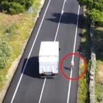 Adelantar en continua a un ciclista ¿Legal o ilegal? Buscan al camionero para hacerle el recurso de la multa ilegal de la Guardia Civil con un Dron