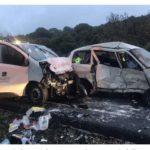 Siete heridos en la colisión frontal de dos furgonetas en Navas del Rey