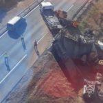 Colisionan dos tráiler y mueren los dos conductores en la A4 en  Montoro