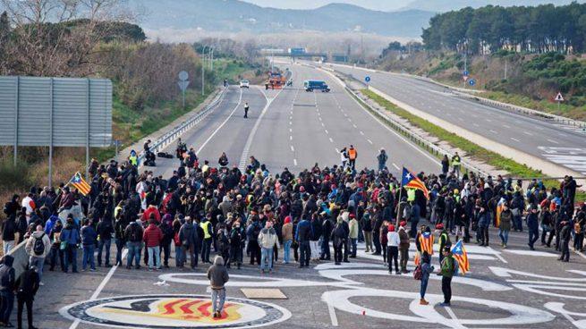 cdr carreteras cortadas barcelona