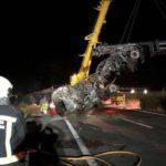 Fallece un camionero de Acotral en un trágico accidente en la AP15