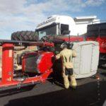Muere un tractorista al chocar con un camión en la A-220 Cariñena