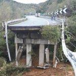 Se hunde un viaducto de 30 metros en la Autopista A6 Savona