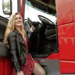 Ankie 23 años, camionera con camión propio:  el trabajo de conductor de camión es realmente algo para las mujeres