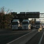 Camiones de Ence cortando la A6 en Madrid