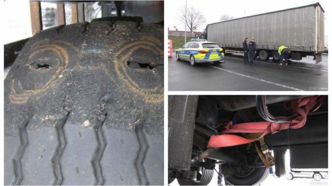 Un camión rumano tenía tantos defectos que los policías alemanes se quedaron sin palabras