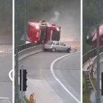 Fallece un camionero tras caer por un puente de 20 metros, por la imprudencia de un conductor