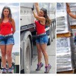 Raquel camionera: Una vez pinché una rueda y hasta tres patrullas de la Guardia Civil acudieron