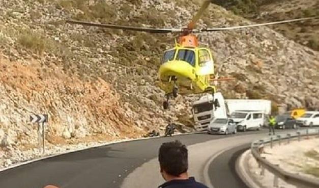 Herido grave un motorista de 21 años al colisionar contra un camión en la A-397 hacia Ronda