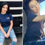 Mina, de 22 años, designada la conductora de camiones más bella de Rumanía en 2019.