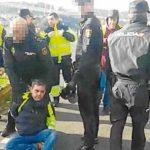 Un camilnero detenido en las protestas de los camioneros del carbón